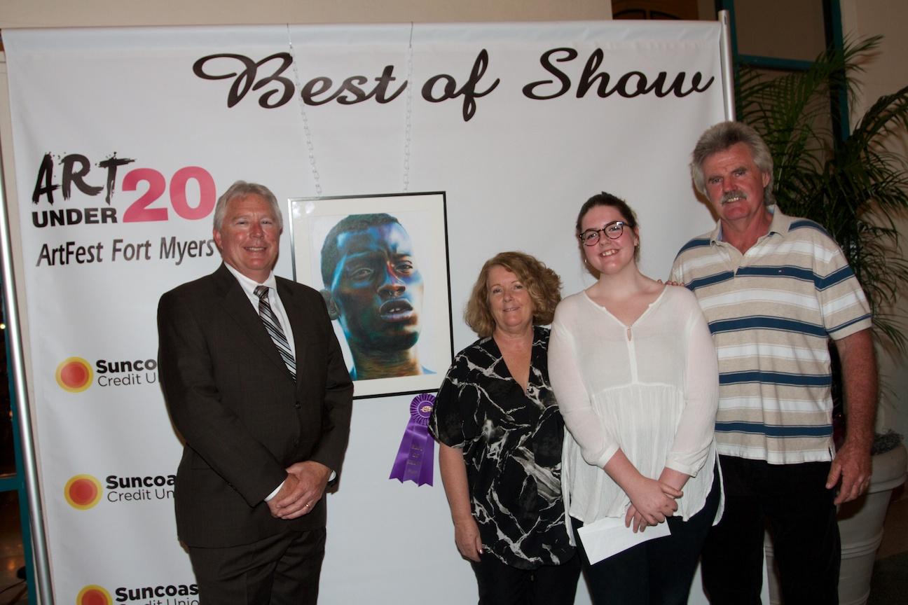 Artfest suncoast credit union honor art under 20 winners for Craft fair fort myers