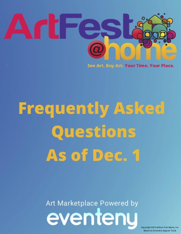 FAQ's From Artist Training 11-30-20