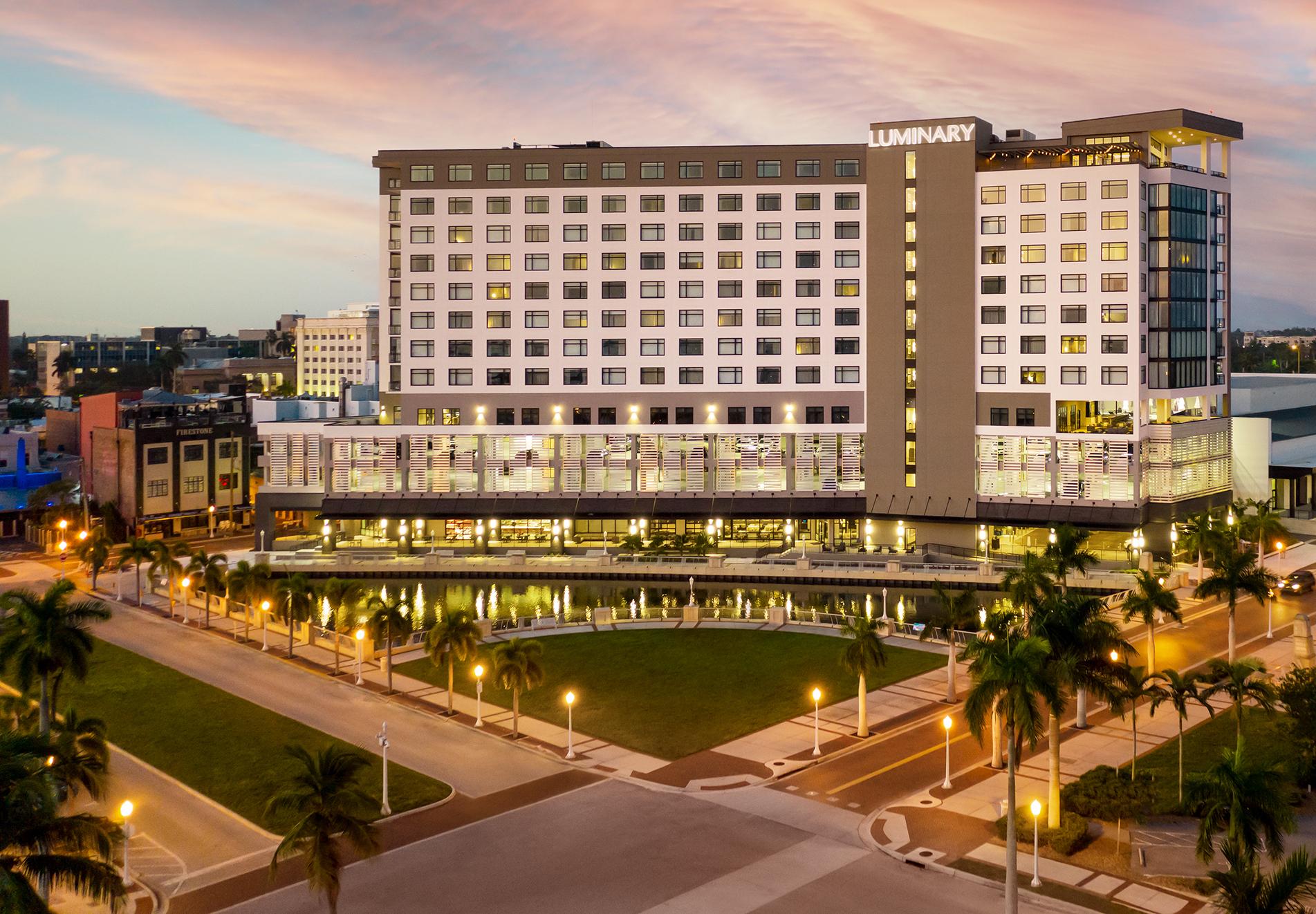Package_2 option exterior Luminary Hotel - Exterior - Aerial Hero Dawn crop