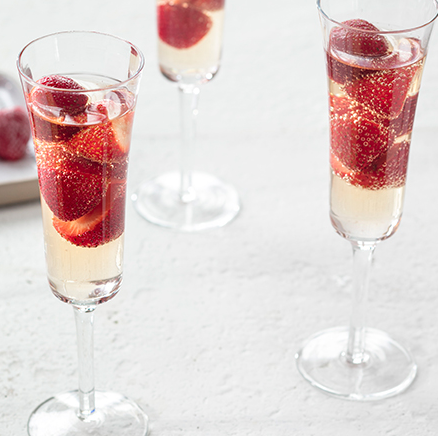Strawberry-Peach Prosecco
